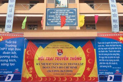 Đoàn trường tổ chức Hội trại truyền thống năm 2018