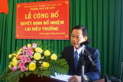 Công bố Quyết định bổ nhiệm lại Hiệu trưởng trường THPT Việt Đức